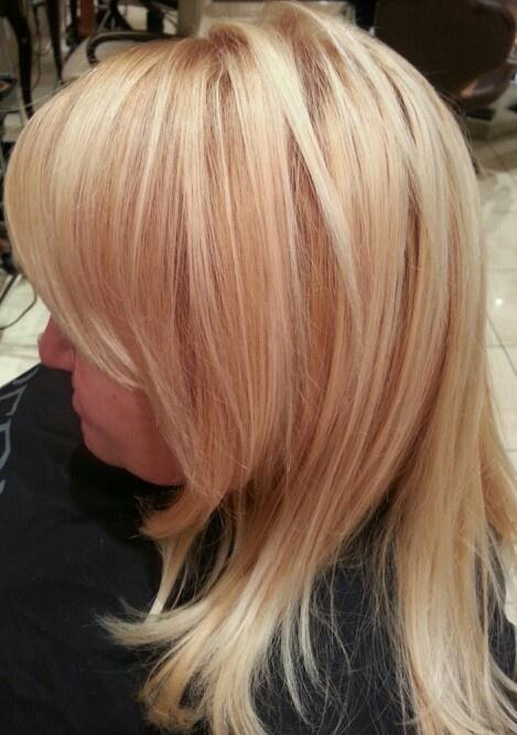 Light Blonde Highlights Amp Golden Blonde Base Spring 2013