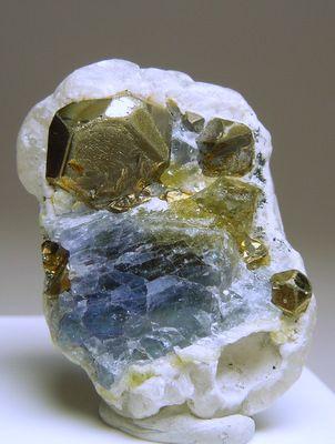 Tanzanite and Pyrite