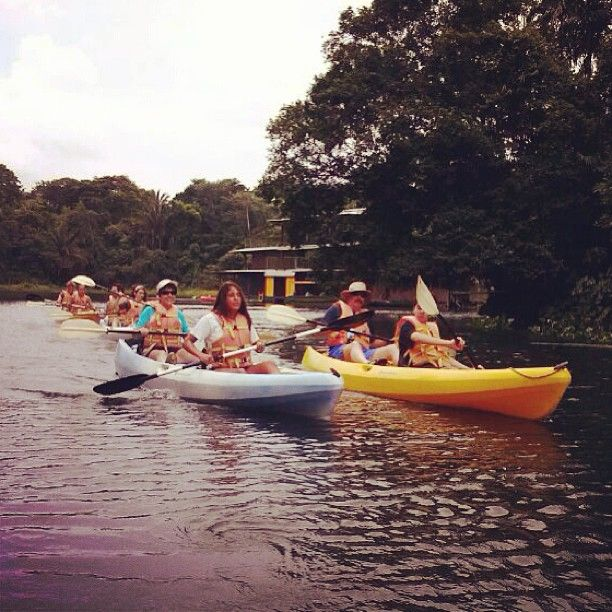 Sunday's group heading out on Lake Gatun! How many of you can say that you have kayaked the Panama Canal?