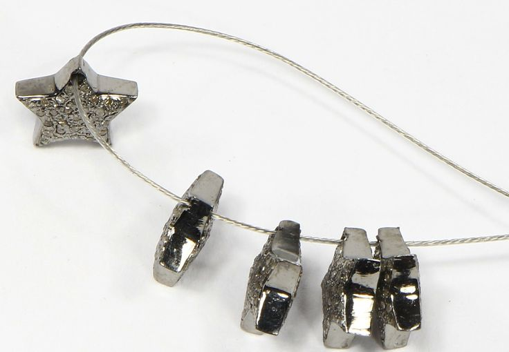 Star shape Beads with Pave Diamonds