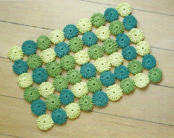 Crochet Table Mat Puff Stitch Crochet Pdf Pattern Instant Download