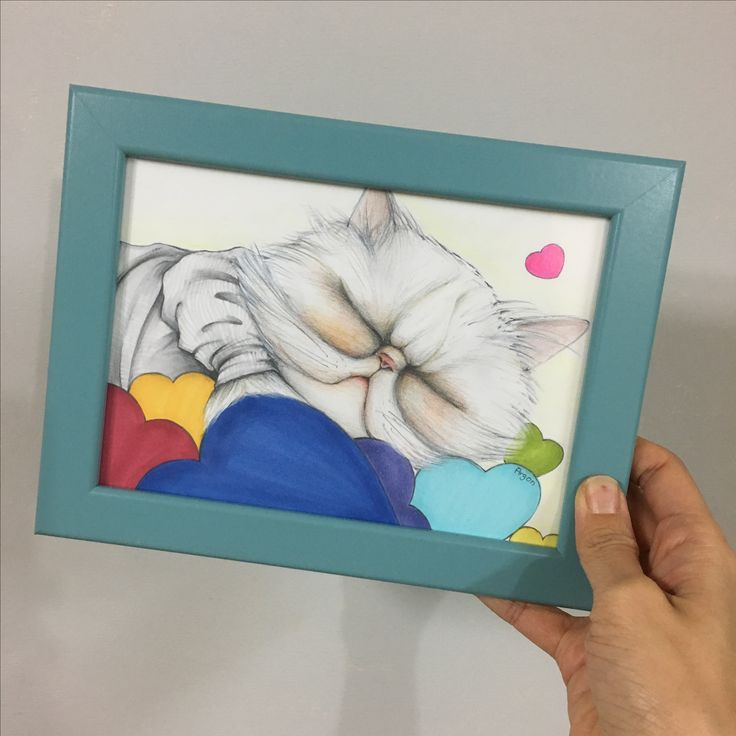 Drawing for cat, regalo, persiancat, pencil, illust