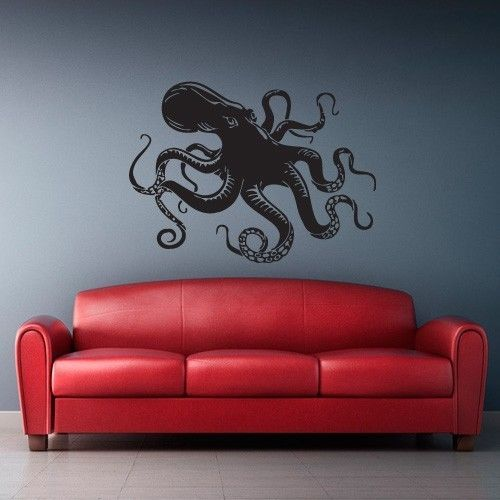 Wall Decal Vinyl Sticker Decals Octopus Sprut Poulpe Delfish tentacles (z2383)