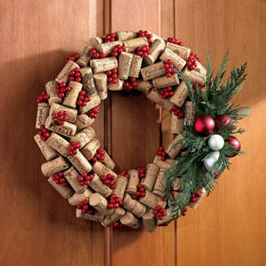 Holiday Wine Cork Wreath