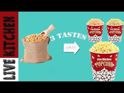 3 Pop Corn Hacks | Έξυπνο κόλπο με ποπ κορν σε 3 γεύσεις!!! Live Kitchen - YouTube