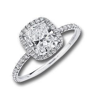 Love!! Custom Cushion Diamond Halo Enagement Ring