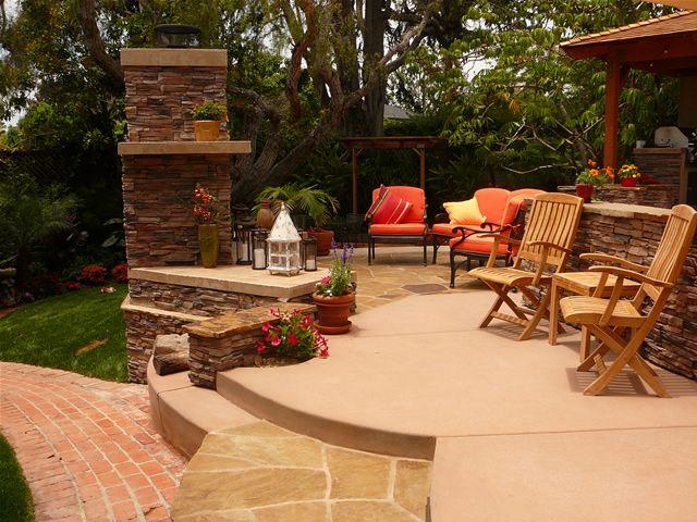 19 best outdoor patios colored with davis colors concrete pigments