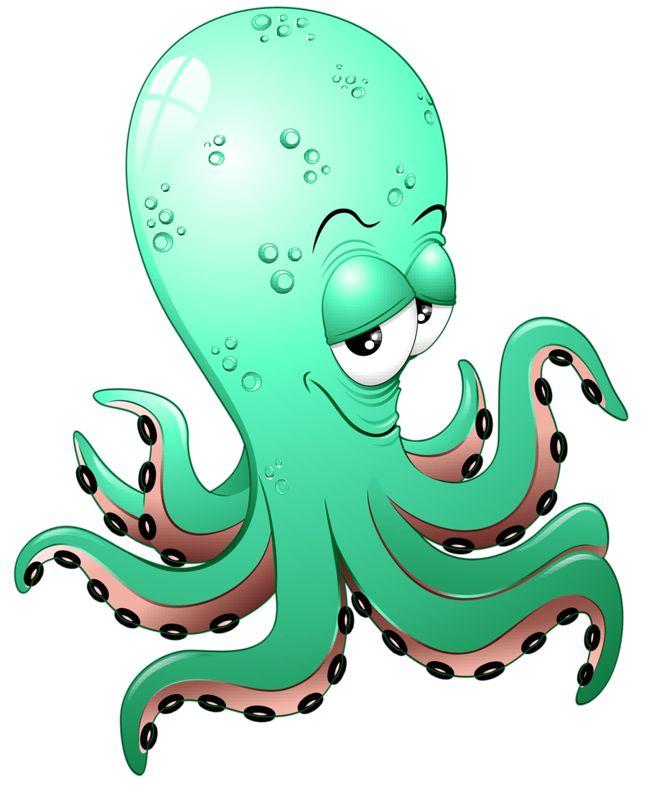 Анимация брату, смешной осьминог рисунок