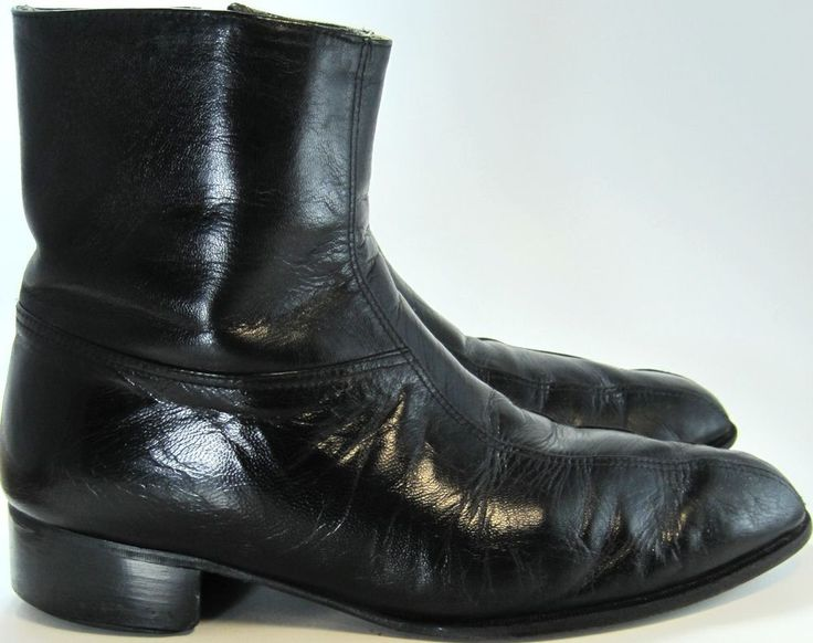 Regency Vtg Men Leather Ankle Boots Size 8D Black.  MMM 32 #Regency