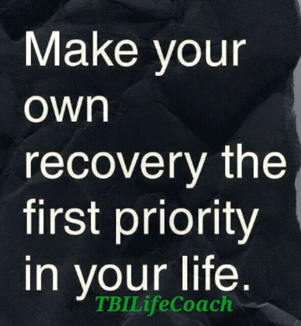 Recovery, I think it's time for me to really remember this.