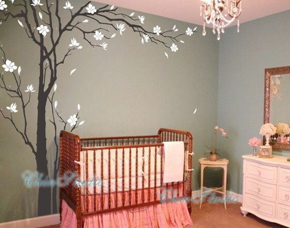 "Tree Decals Nursery Wall Sticker Baby room Murals-102"" Tall Plum blossoms Tree Decal, Vinyl Wall Decal, Wall sticker"