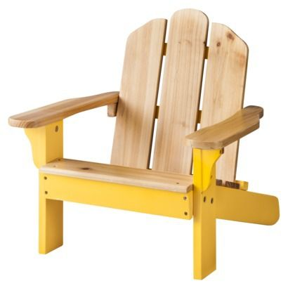 Room Essentials™ Kids Wood Patio Adirondack Chair - Yellow - $39 at Target (for Birdie)