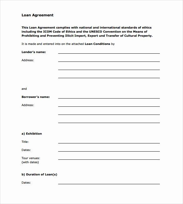 Personal Loan Form Template Inspirational Sample Loan Agreement 6 Free Documents Download In Pdf In 2020 Contract Template Personal Loans Loan