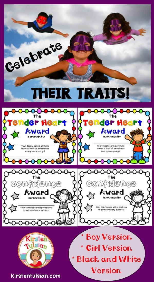 """These Character Trait """"End of Year"""" Awards are unique in that they celebrate the inherent qualities in students, those qualities that have the potential to change the world! Click to pin to read the blog post! Happy Summer!"""