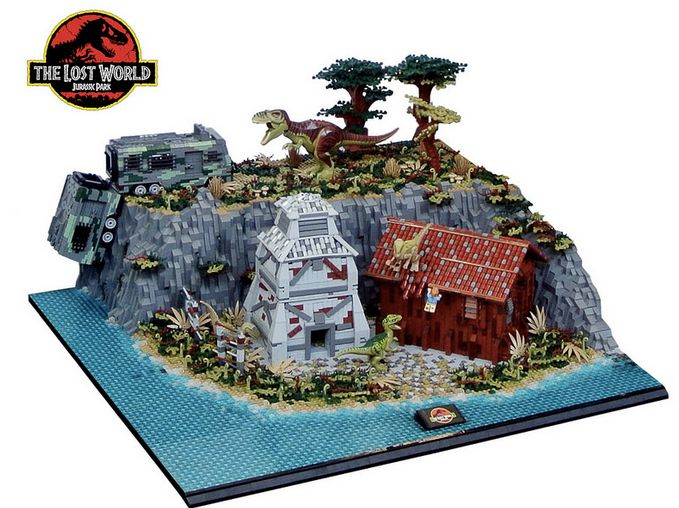 ThisJurassic ParkLego Diorama Combines All Four Movies Into One Massive Display. By Markus Aspacher and Paul Trach. #LEGO