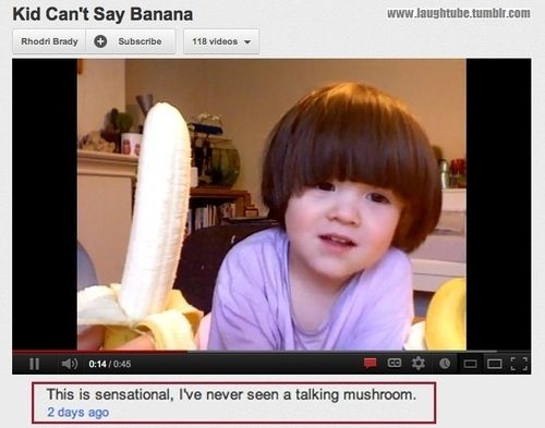 The 25 Funniest YouTube Comments Of The Year. Some of these are BRILLIANT. Oh my goodness XD