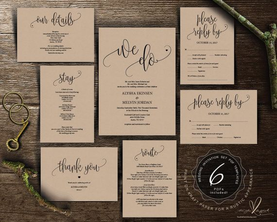 199 best Wedding Invitation images on Pinterest Pdf, Wedding - download invitation card