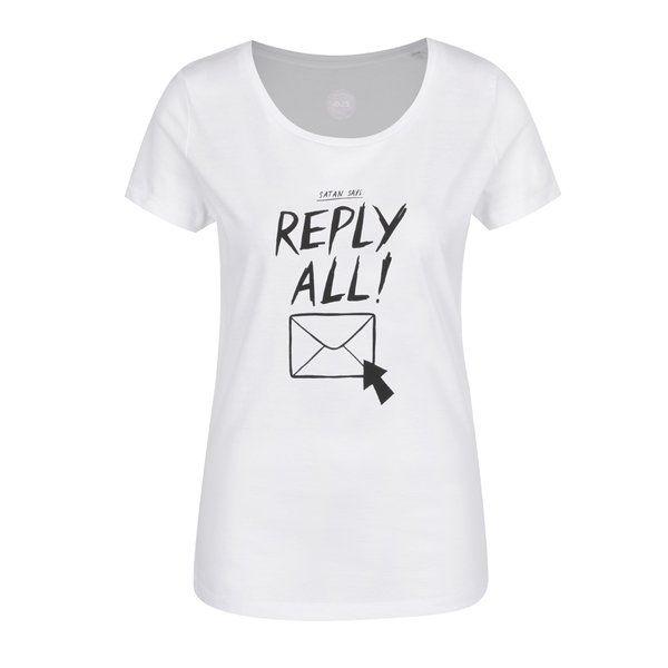 PROMOTIE-Tricou alb ZOOT Original Reply All din bumbac organic cu print