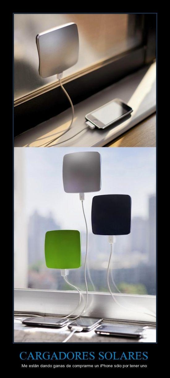 Cargadores solares para #iPhone