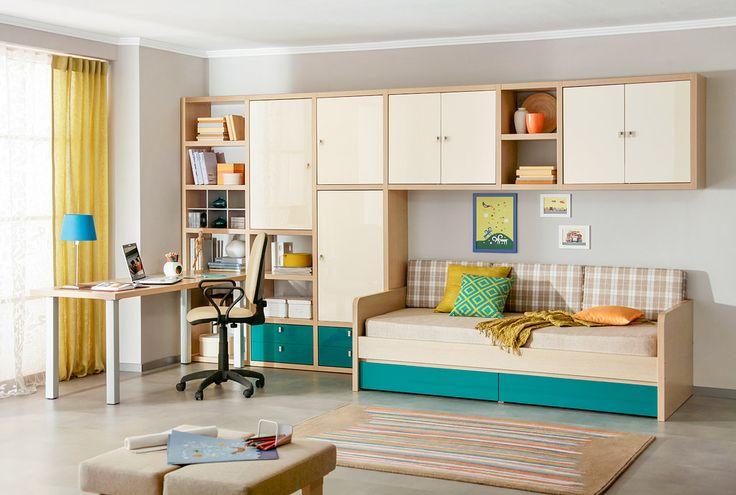 Современная подростковая комната | Дизайн интерьера современной детской #астрон #мебель #astron #подростковые #детские
