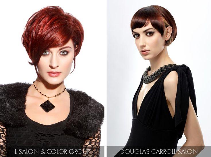 Účesy pro krátké vlasy jaro/léto 2015 – hitem je barva roku 2015 Marsala.