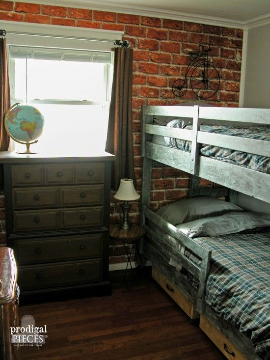 Teen Boys 39 Room Reveal Vintage Industrial Style