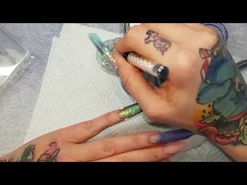☆ Opalescent Glitter Glass Nails + Snow Globe ☆ #allpowder - YouTube