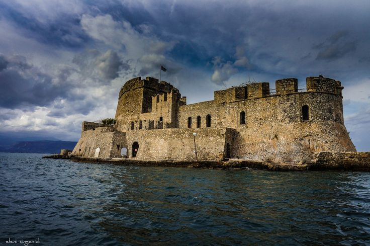 Bourtzi castle in the sea of Naplio old city - Nafplio - Peloponnese - Greece