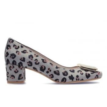 The mid-height block heel is this season's must-have and we have a retro-inspired silhouette that combines a square toe with an oversized acrylic trim. The leopard print adds a playful twist while Cushion Plus™ technology and discreet padding behind the heel provide a comfortable fit. Wear with tailored trousers for that oh so chic office look. http://www.marshallshoes.co.uk/womens-c2/clarks-womens-chinaberry-fun-leopard-print-court-shoes-p4577