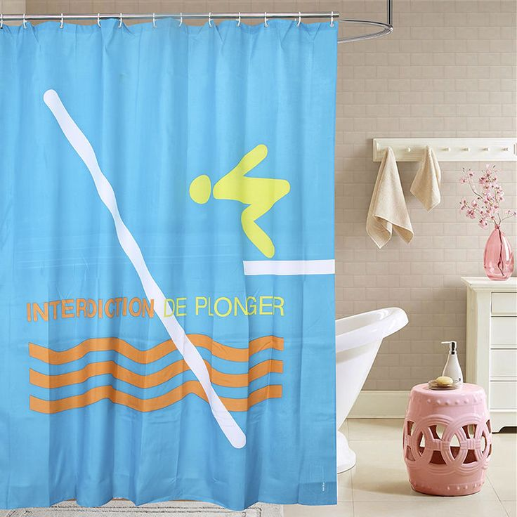 Fabric terylene swimming showering waterproof thicken shower curtains  bathroom curtains, 180 cm * 200 cm