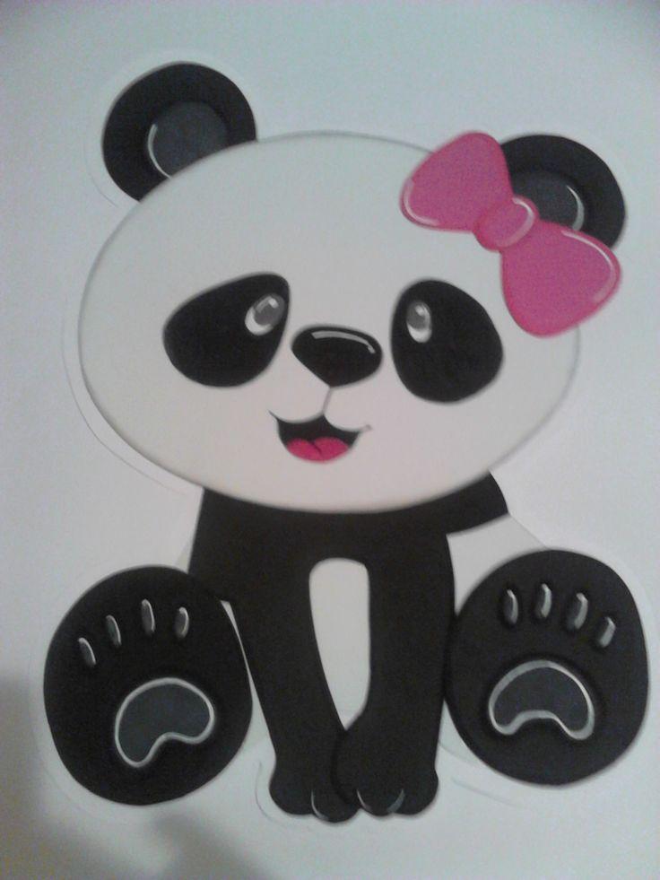 Dibujo en foam para pared fiesta tem tica de pandas para - Como hacer dibujos en la pared ...