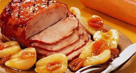 Juleopskrifter – Lækker og nem honning og appelsinglaseret skinke plus fristende tilbehør