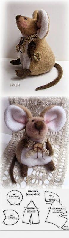 мышка выкройка - Buscar con Google