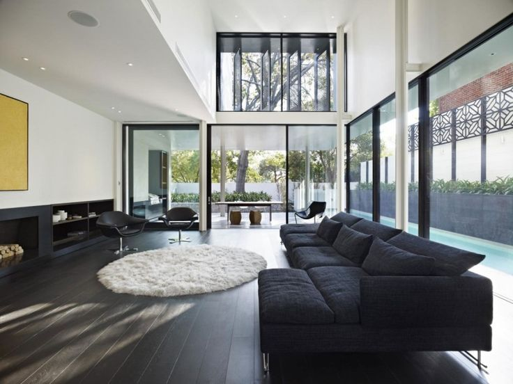 Interior Lovely Round Rugs For Exciting Home Design With Dazzling Living Room Ideas White Circular Fur Floor Mat On Black Wooden Fl