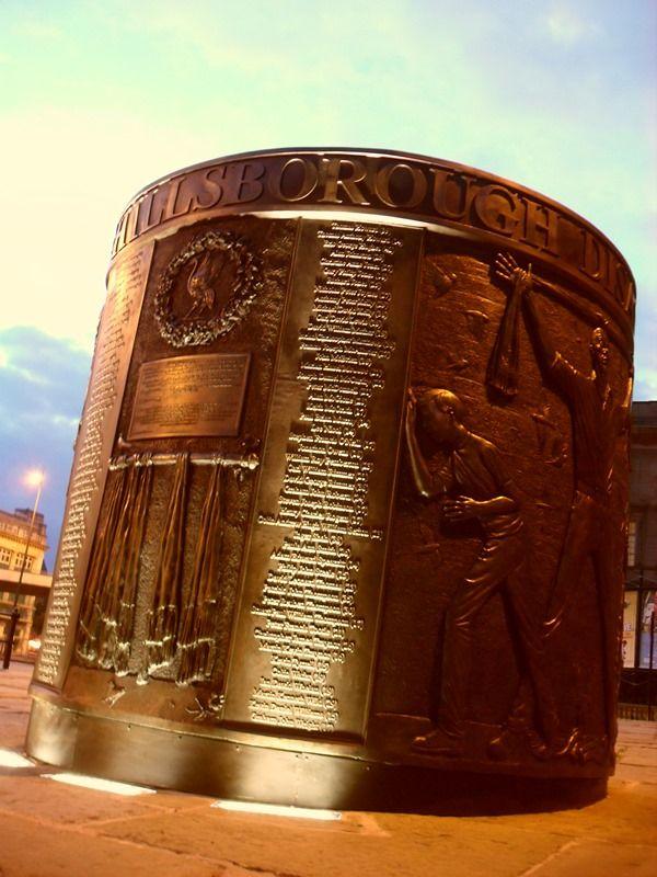 The Hillsborough Memorial in Liverpool at dusk (taken on Wednesday 21 August 2013).