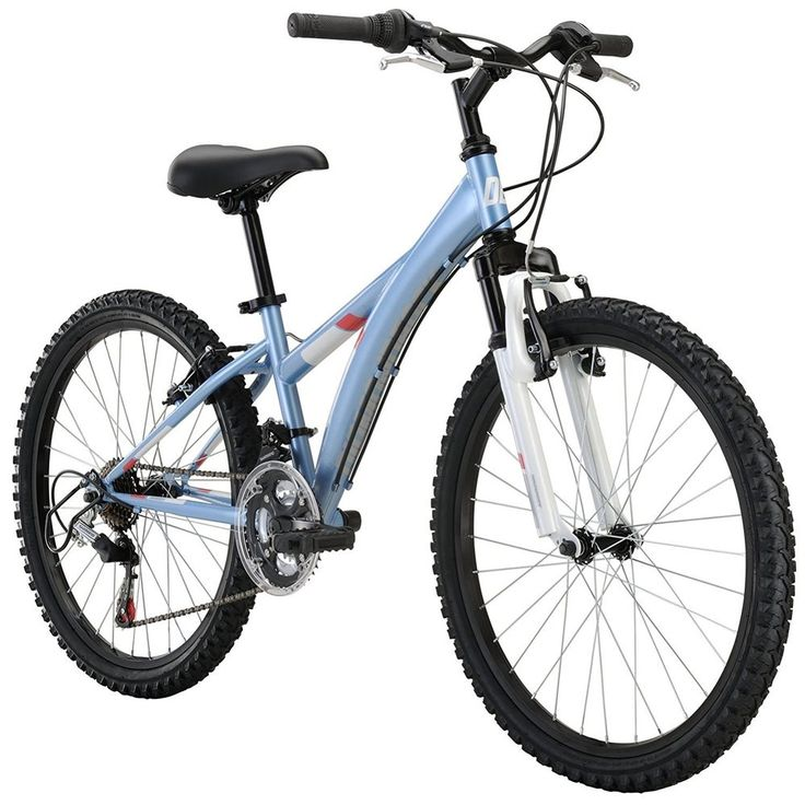 "Girl's Mountain Bike 24"" Wheels Bicycle Tires Seat Tube Pump Lock Pedals Carrier #DiamondbackBicycles"