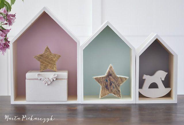 Wood&Crafts - kreatywne malowanie: Pastelowe domki