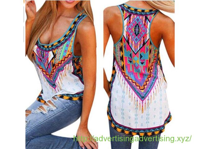Laimeng, Women Summer Vest Sleeveless Shirt Blouse Casual Tank Tops