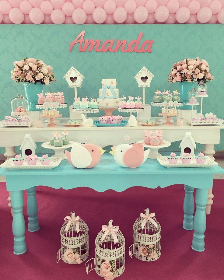 """167 Likes, 11 Comments - @brunatillifestas on Instagram: """"Hoje montamos a festa passarinhos para comemorar o primeiro aninho da Amanda  #brunatillifestas…"""""""