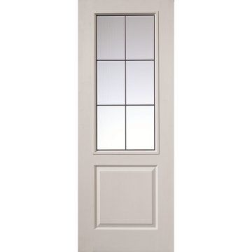 Image of Five JBK Beta Doors with Brushed Chrome Camings and Bevelled Clear Safety Glass
