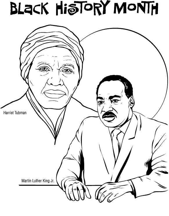 Black history month printables black history coloring for Black history printable coloring pages