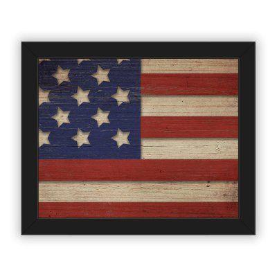 Horizon Original American Flag Mixed Media Dimensional Wall Art - DMVGRU0000421