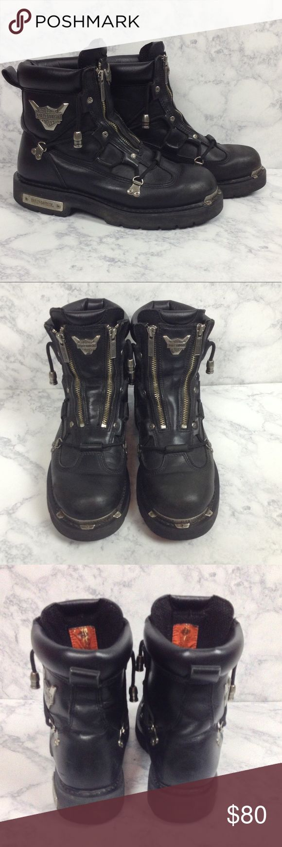 HARLEY DAVIDSON Men's Brake Light Motorcycle Boots Gently used black leather men's motorcycle riding boots in size 9.5. In excellent condition. No trades Harley-Davidson Shoes Boots