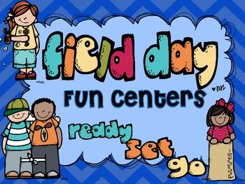 5 Fun Field Day Themed Centers to Keep Your Kids Engaged Before or After Field Day...perfect for half day field days
