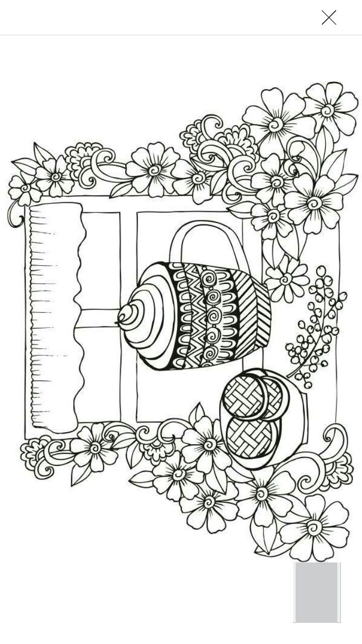 Adult Coloring Pages Coffee Tea Cup Stock Photo