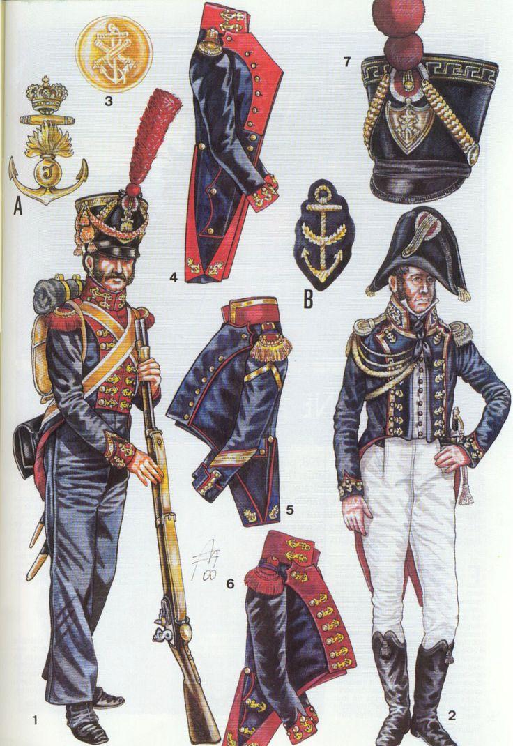 Fucilieri di Marina e capitano di fregata del regno di Napoli
