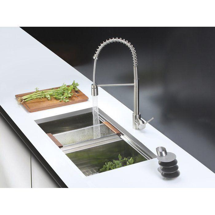 Roma Workstation Ledge 33 L X 19 W Double Basin Undermount Kitchen Sink Undermount Kitchen Sinks Kitchen Sink Double Basin