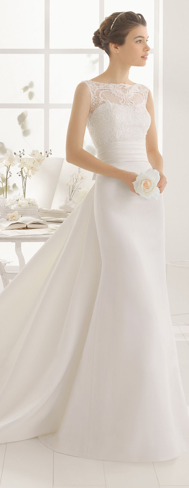 Aire Barcelona 2016 Wedding Dress. 1000+1 Creative Ways to Add Color to Your Wedding! View more wedding ideas: http://www.homeboutiquecraft.com