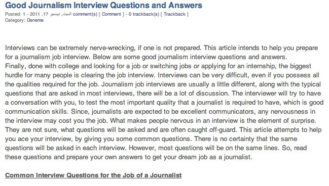 Good Journalism Interview Questions And Answers Interviews Can Be