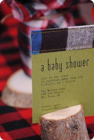 Lumberjack baby shower